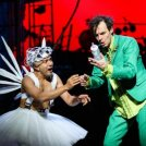 peter-pan-13. Saikat Ahmed as Tinker Bell and Paul Hilton as Peter. Photo by Steve Tanner.-thumb-imgpreview
