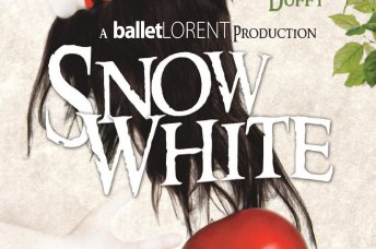 text saying snow white and a red apple