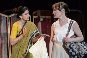 Ulrika Krishnamurti as Aditi and Gina Isaac as Eva in Made in India - Credit Robert Day - Copy
